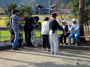 NHK取材中の様子